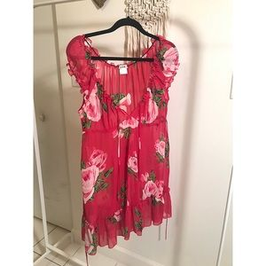 Forever21 sheer floral romantic top
